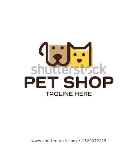 Design Template For The Logo Of The Vector Stock Vector Image Royalty Free 1329972215 In 2020 Pet Shop Logo Shop Logo Design Pet Branding