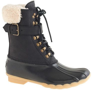 J.Crew Women's Sperry Top-Sider® for Shearwater buckle boots on shopstyle.co.uk