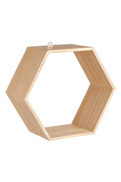 Etagere Hexagonale En Bois Avec Images Etagere Hexagonale