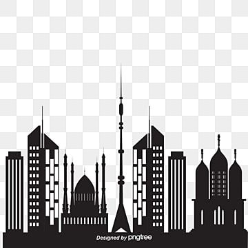 Blue City Building Silhouettes Lateral Material City Clipart Blue Vector City Vector Png Transparent Clipart Image And Psd File For Free Download In 2021 City Silhouette City Vector Building Silhouette
