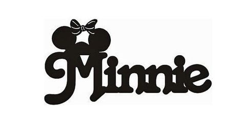 Minnie Title   sure cut scrapbook paper by welcomejungle2 on Etsy, $1.69