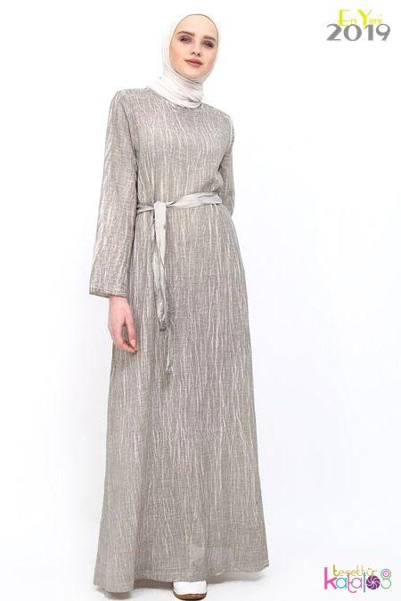 Kendinden Yelekli Tesettur Elbise Sarabi Urun Kodu Knz3118 39 90 Tl Elbise Kadin Giyim Islami Giyim