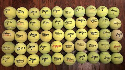 Lot Of 50 Used Tennis Balls Dogs Fetch Bottom Of Walkers In 2020 Tennis Balls Tennis