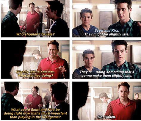 "Teen Wolf Season 04 Episode 11 ""A Promise to the Dead"" Stiles, Liam and Coach"