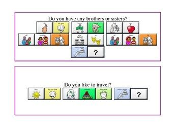 Let S Talk Conversation Starters With Lamp Sequences Wfl Aac Device Conversation Starters Aac Autism Classroom
