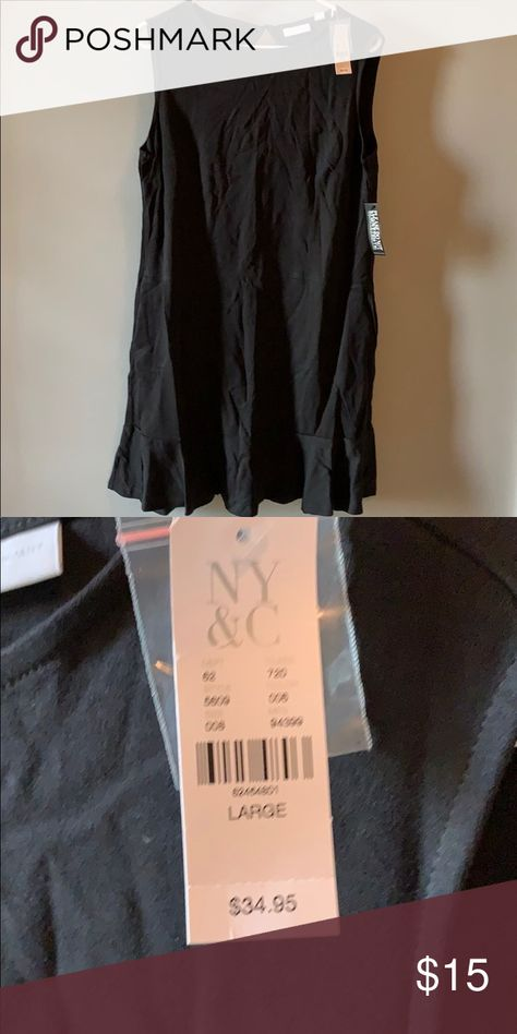 Ladies black dress large Black dress Dresses