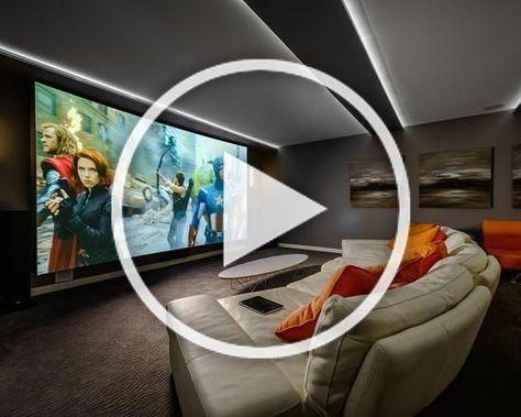 DIY Home theater ideas for your home #HomeTheater #HoeDesign #HomeDecor #EntertainmentCenter #hometheaterprojector