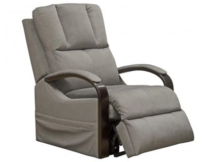 Chandler Power Lift Recliner With Heat And Massage In Platinum