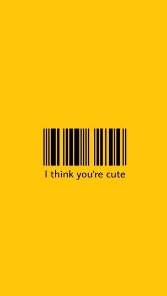 Barcode Aesthetic Tumblr Iphone Wallpaper Yellow Aesthetic