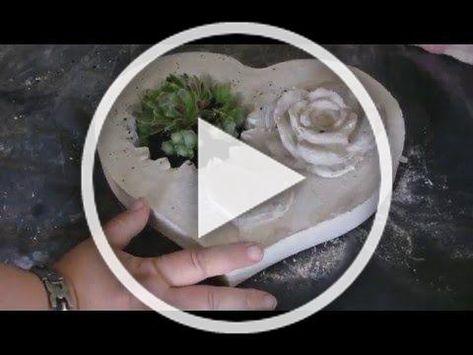Beton giessen  DIY  Betonpilze mit Damenstrümpfen machen  YouTube #Beton #Deko #Diy #Giessen #Garten #Basteln #Weihnachten