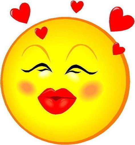 Pin von Gleide Maia auf Emoticons | Smileys, Kuss