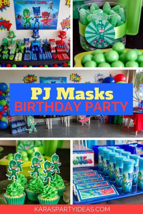Pj Masks Birthday Party Birthday Party Themes 4th Birthday