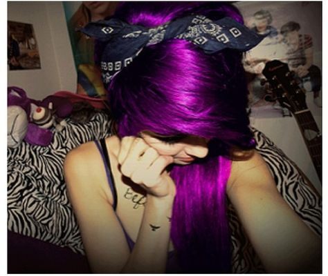 Love this color for highlights underneath all jet black hair.. beautiful Purple!! ;)