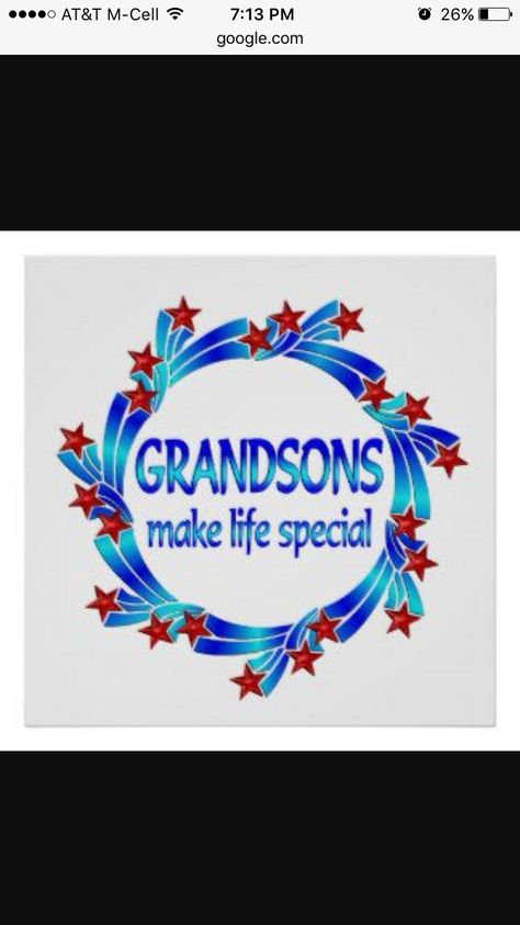 Grandsons make life special
