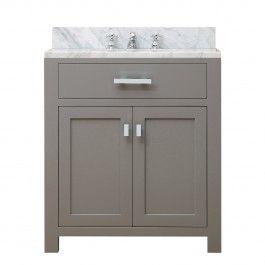 Water Creation Madison30gf Single Sink Vanity With Faucet In Cashmere Grey Bathroom Sink Vanity Single Sink Bathroom Vanity