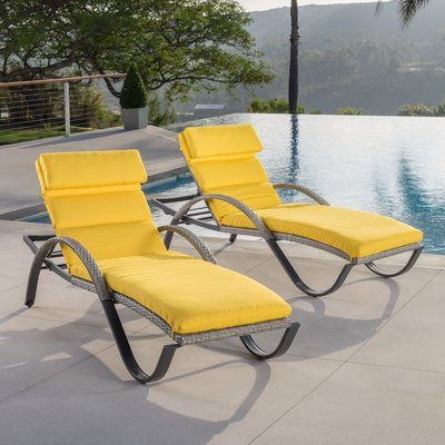 Castelli Chaise Lounge With Cushion Color Yellow Http Delanico Com Chaise Lounges Castelli C Sun Lounger Outdoor Patio Chaise Lounge Reclining Sun Lounger