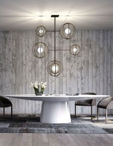 modern furniture & lighting   spencer interiors, vancouver   round dining tables