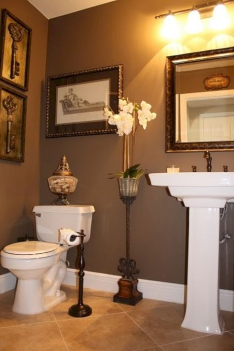 60+ Cute Paint Ideas Small Bathroom http://bedewangdecor.com/60-cute-paint-ideas-small-bathroom/
