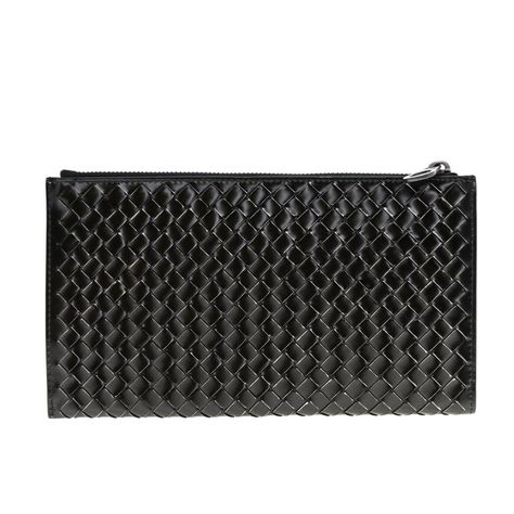 Bottega Veneta Bags | Intrecciato Pouch Wallet Leather Clutch, Black, (One Size), New | Tradesy