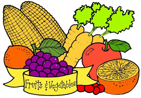 100 best fruits veggies images on pinterest vegetables veggies rh pinterest com fruits and vegetables clipart black and white clip art for fruits and vegetables