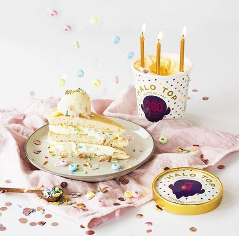 Blow Out Your Candles Without Blowing Diet Danibarrois Get The Scoop Halo Top Birthday Cake Ice Cream