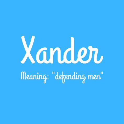 Xander - Cool Baby Names That Start With X, Y, or Z - Photos