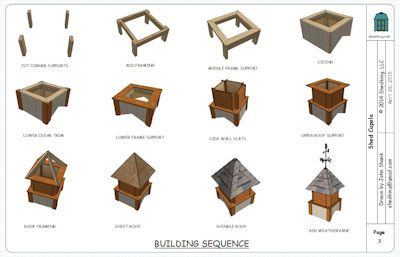 Free Cupola Plans For Your Neat Shed In 2020 Cupolas Shed Shed Design