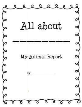 Animal Report Template   Students Can Tackle Their Animal Research In An  Organized Way! These Printables Are Ready To Print And Go, And Are Easy Onu2026