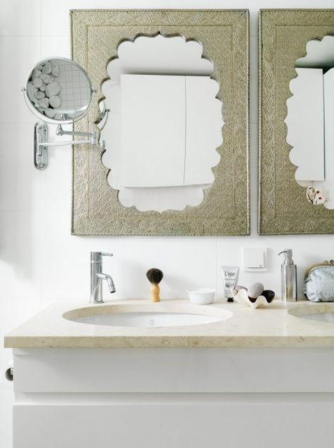 Erstaunliche Stilvolle Kleine Bad Mit Einzigartigen Wand Spiegel