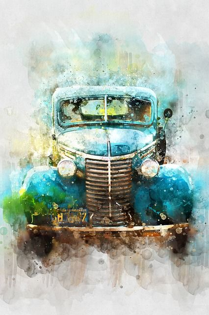 Free Image On Pixabay Car Old Car Watercolor With Images
