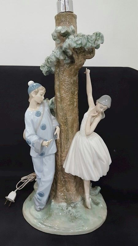 Lladro Jester and Ballerina Lamp Base | Lamps of all kinds