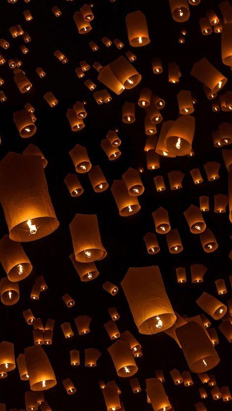 Lock Screen Tangled Lanterns Wallpaper