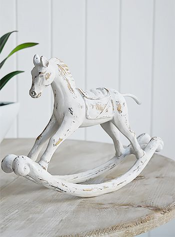 Wooden Rocking Horse Decor