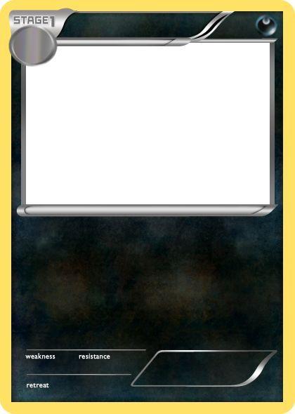 Bw Dark Stage 1 Pokemon Card Blank By The Ketchi On Deviantart