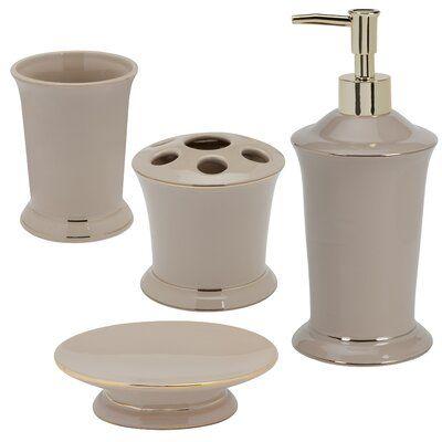 House Of Hampton Wysocki 4 Piece Bathroom Accessory Set In 2020 Bathroom Accessories Sets Automatic Soap Dispenser Bathroom Accessories