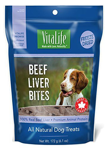 Vitalife Freeze Dried Dog Treats All Natural Beef Liver Bites