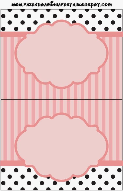 Pink, White and Black Stripes and Polka Dots: Free Printable Candy Bar Labels. | Is it for PARTIES? Is it FREE? Is it CUTE? Has QUALITY? It´s HERE! Oh My Fiesta! in english