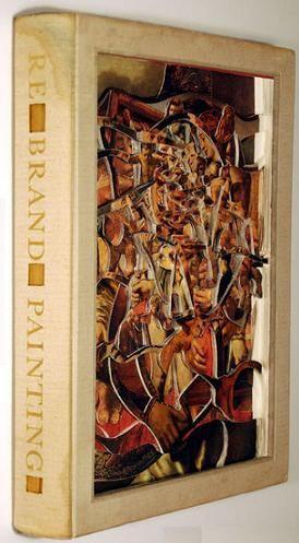 Book sculture by Brian Dettmer