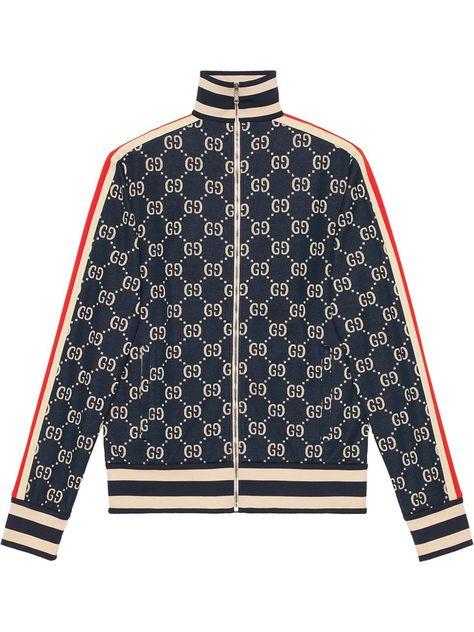 Gucci GG jacquard cotton jacket - Blue