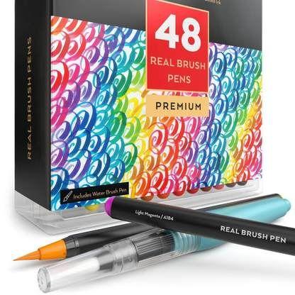 50 Premium Watercolor Brush Pens Best Art Supplies Social