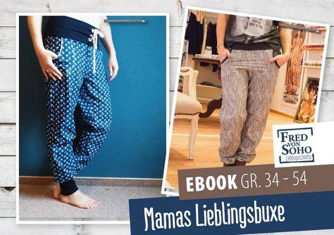 Nähanleitungen Mode - eBook Mamas Lieblingsbuxe, Gr. 34 - 54 - ein Designerstück von FredvonSOHO bei DaWanda