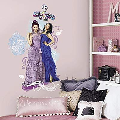 Roommates Rmk2853tb Descendants Mal Evie Peel Stick Wall Graphic 6 Count Mal And Evie Wall Graphics Disney Descendants