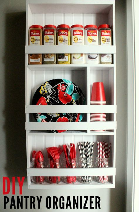 DIY Organizing Shelf perfect for the Pantry!