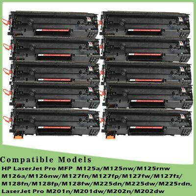 Ad 10 Pk Black Cf283a Toner Cartridges For Hp Laserjet Pro M127fn M127fw M125nw Mfp In 2020 Toner Toner Cartridge Ebay