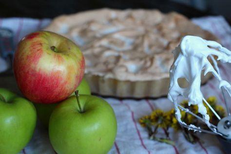 äpple med marängtäcke