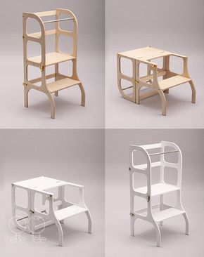 Little Helper Tower Table Chair All In One Montessori Kitchen Step Stool Table And Chairs Step Stool