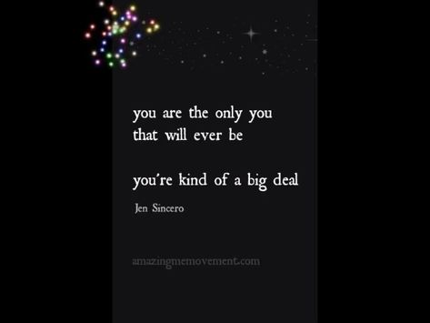 You are such a big deal and don't you ever forget that. Enjoy these 10 Jen Sincero quotes about how awesome you are. #videoquotes #selflovequotes #selflovequotespositivity #selflovequotesforwomen #inspirationalselflovequotes #selflovequotesaffirmations #selflovequotesconfidence #selflovequotesrecovery #happinessselflovequotes #mentalhealthselflovequotes #motivationalselflovequotes #strengthselflovequotes