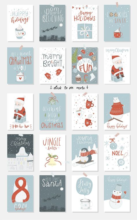 Joyful Big Christmas Set by Artnis on @creativemarket #cards #christmas #season #ad