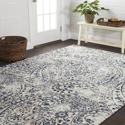 Mathew Blue White Area Rug Textured Carpet Area Rugs Beige Area Rugs