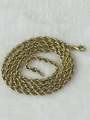 Ad Ebay Link Michael Anthony 10k Gold Necklace 20 5 Gr Rope Chain Marked In 2020 White Gold Pendant Necklace Solid Gold Necklace Sterling Silver Necklace Vintage